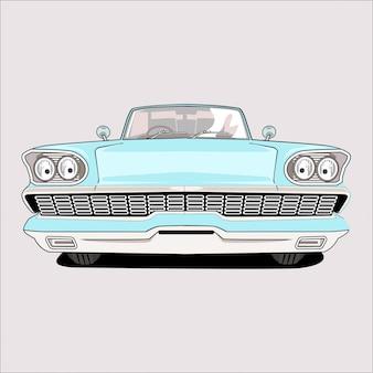 Illustratie op vintage klassieke auto