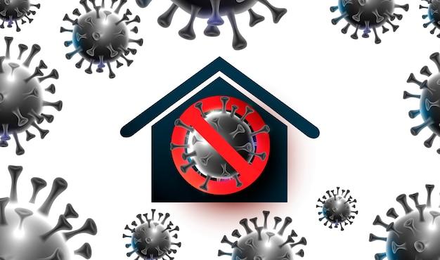 Illustratie over het thema van de dreiging van de sars-epidemie.