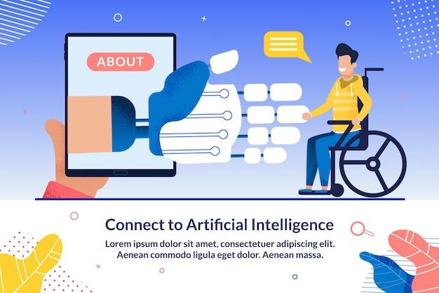 Illustratie over verbinden met kunstmatige intelligentie.