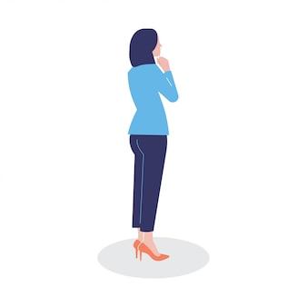 Illustratie persoon karakter vrouw