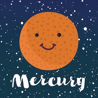 Illustratie planeet mercurius