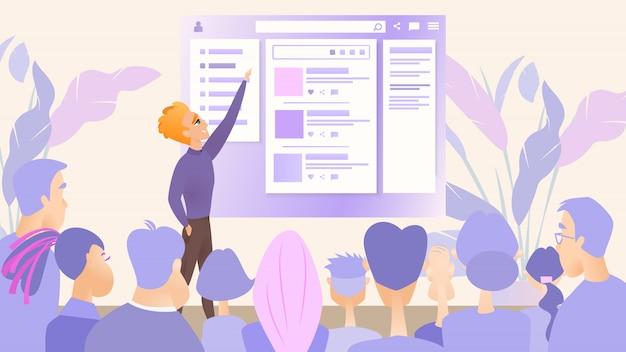 Illustratie presentatie digitaal product bedrijf