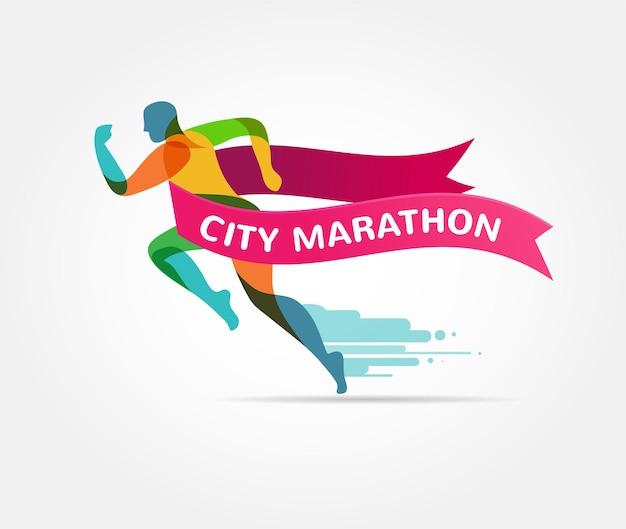 Illustratie rennende marathon