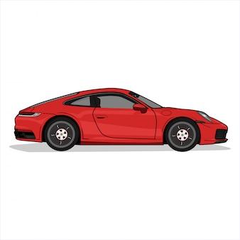 Illustratie sportwagen Premium Vector