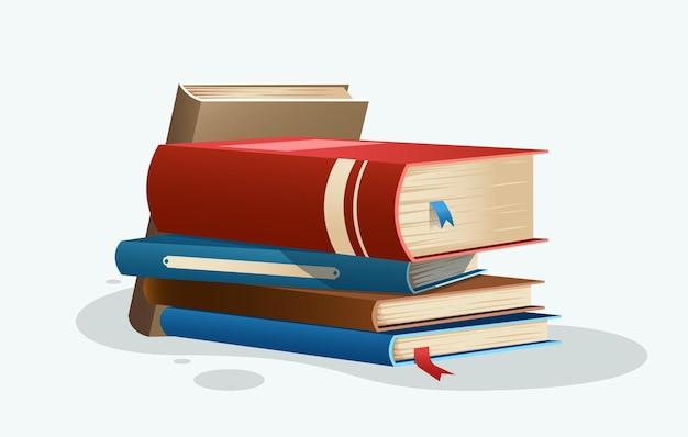 Illustratie stapel boeken