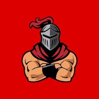 Illustratie sterk karakter spartaanse soldaat gladiator ontwerp grafische vector