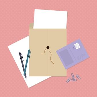 Illustratie string envelop
