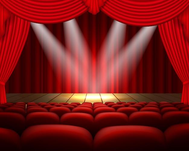 Illustratie theater podium