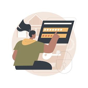 Illustratie toegangscontrolesysteem