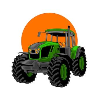 Illustratie tractor boerderij Premium Vector