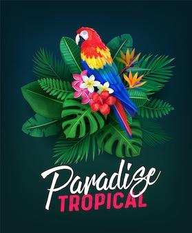 Illustratie tropisch feest