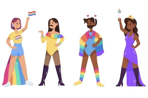 Illustratie trots dag mensen vieren