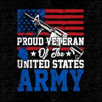 Illustratie trotse veteraan leger grunge stijl