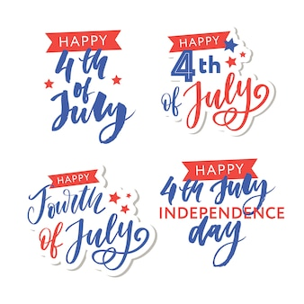 Illustratie van 4 juli achtergrond met amerikaanse vlag