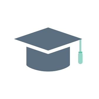 Illustratie van afstuderen hoed