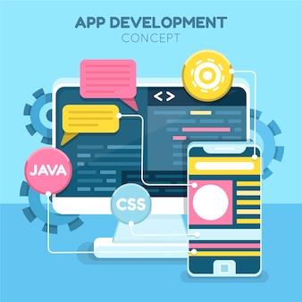Illustratie van app-ontwikkelingsconcept