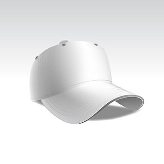 Illustratie van baseball cap op witte achtergrond