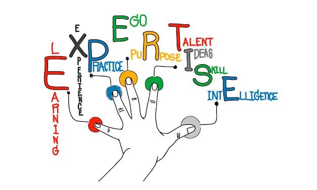 Illustratie van bedrijfsexpertise