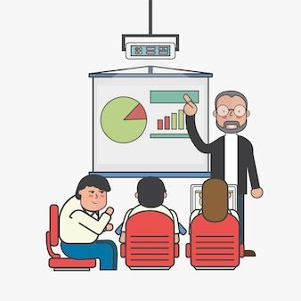 Illustratie van bedrijfsmensenavatar