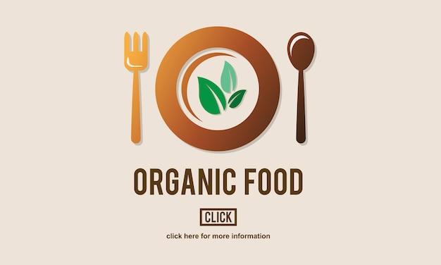 Illustratie van biologisch voedsel