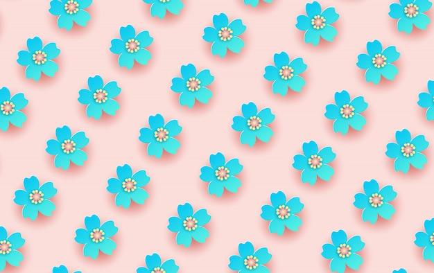 Illustratie van bloem naadloos patroon.