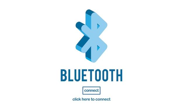 Illustratie van bluetooth-verbinding