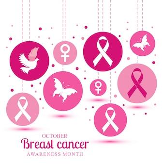 Illustratie van borstkanker Gratis Vector