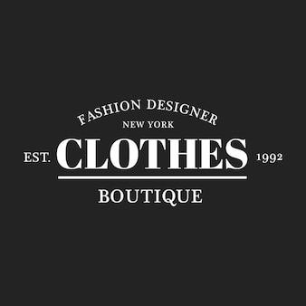 Illustratie van boutique winkel logo stempel banner