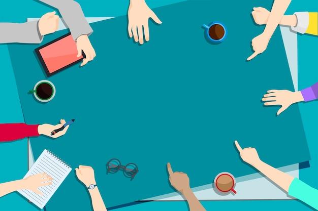 Illustratie van brainstorming teamwork