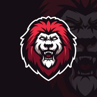 Illustratie van brullende leeuw mascotte