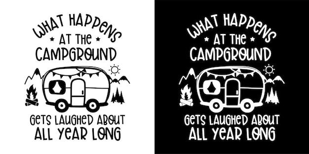 Illustratie van camper en reizend concept
