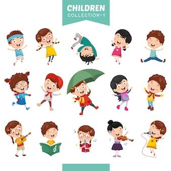 Illustratie van cartoon kinderen