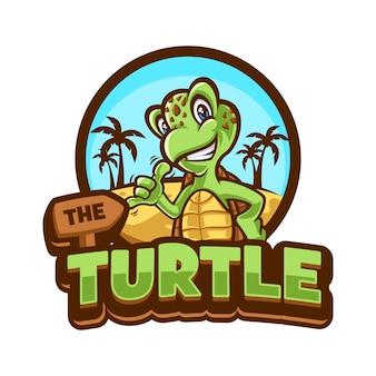 Illustratie van cartoon schildpad