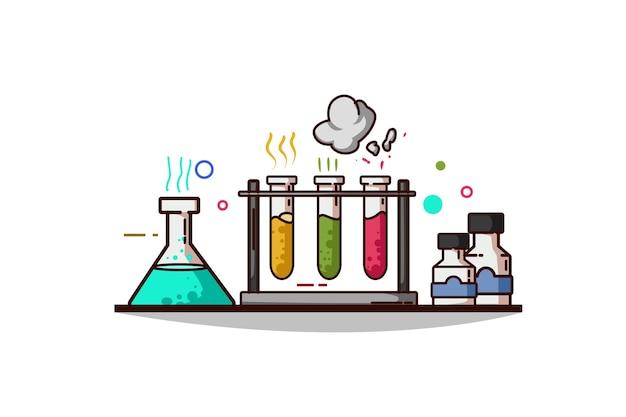 Illustratie van chemie chemische producten