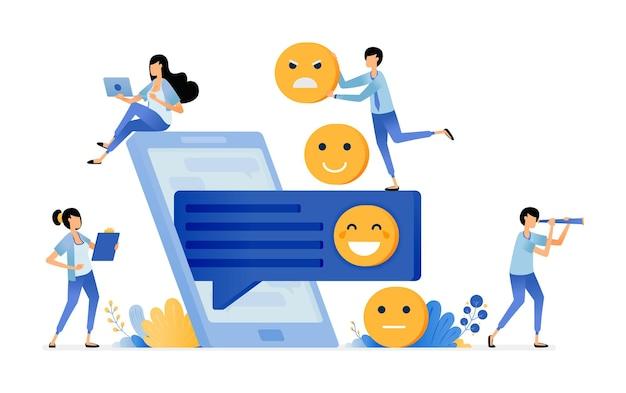Illustratie van commentaar en feedback