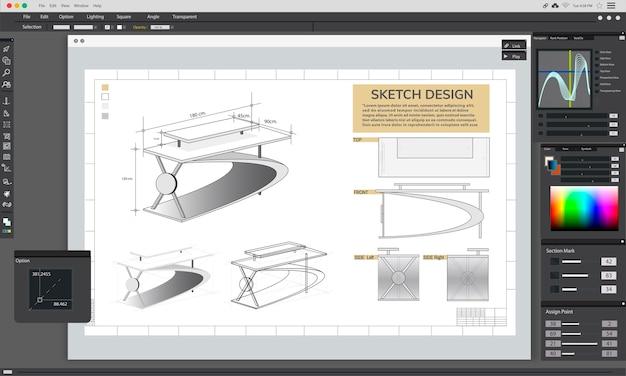 Illustratie van creatief grafisch ontwerp