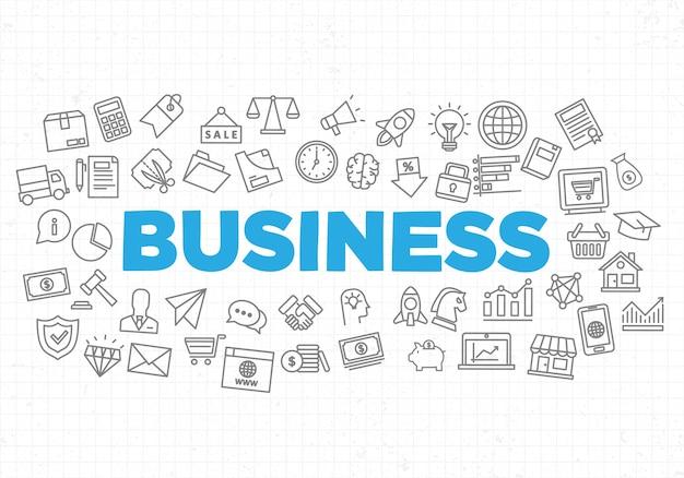 Illustratie van creatieve bedrijfsstrategie achtergrond