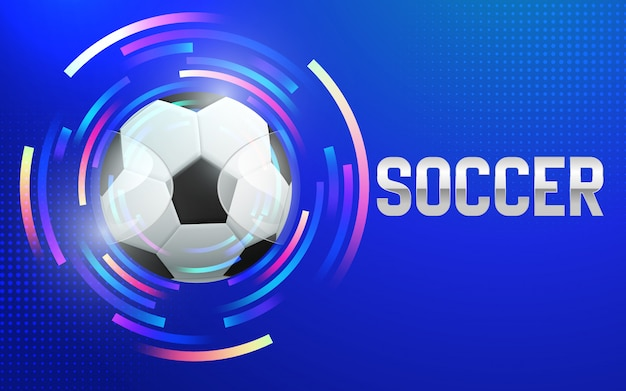 Illustratie van de achtergrond van de voetbalsporten van het voetbalkampioenschap.