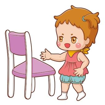 Illustratie van de baby van het beeldverhaalkarakter