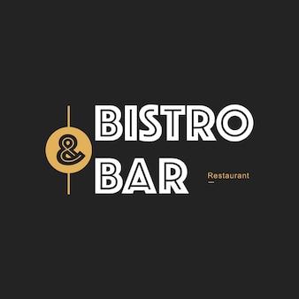 Illustratie van de banner van de restaurantzegel