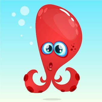 Illustratie van de beeldverhaal de grappige octopuss