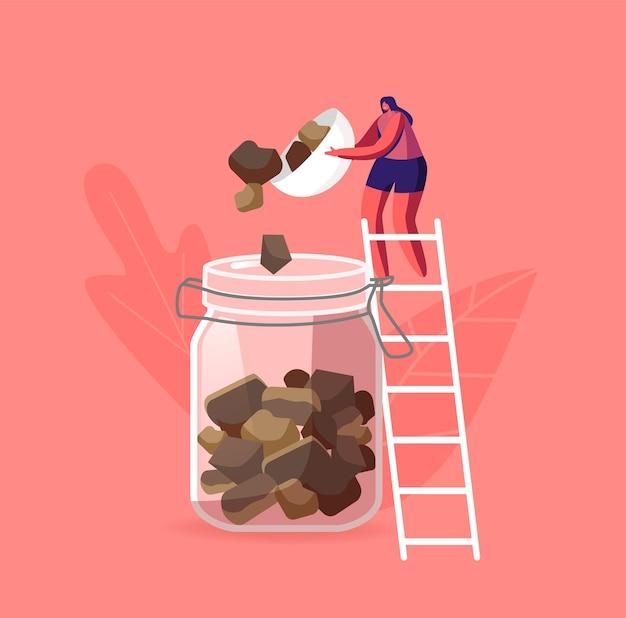 Illustratie van de bijenteeltindustrie