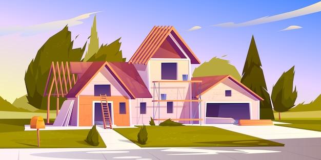 Illustratie van de bouwplaats