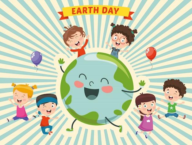 Illustratie van de dag van de aarde