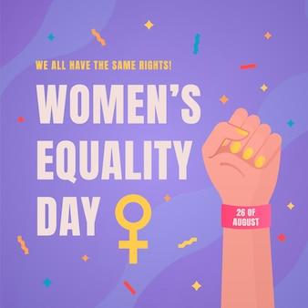 Illustratie van de dag van de gelijkheid van vrouwen met kleurovergang