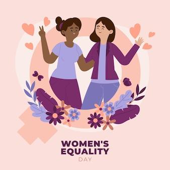 Illustratie van de dag van de gelijkheid van vrouwen