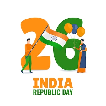 Illustratie van de dag van de indiase republiek