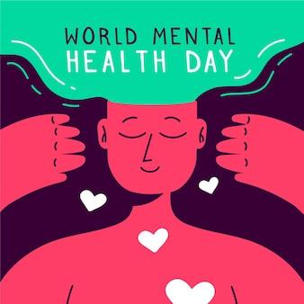 Illustratie van de dag van de wereld geestelijke gezondheid