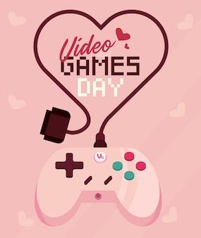 Illustratie van de dag van videogames