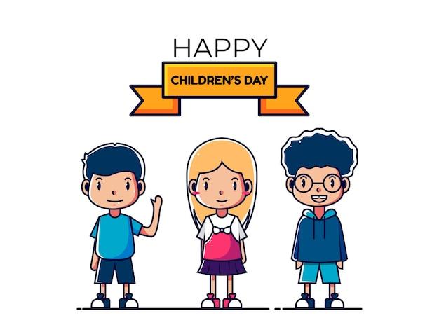 Illustratie van de dagviering van kinderen, de illustratie van kinderen, vieringsdagillustratie van de dagviering van kinderen, de illustratie van kinderen, vieringsdag